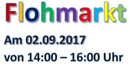6. Flohmarkt des Förderkreises am 02.09.2017